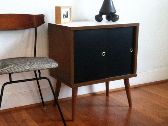 Vintage Modern Mid Century Record Cabinet