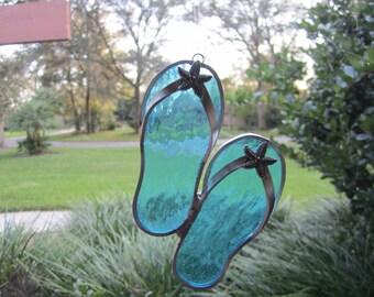 Starfish Flipflop Suncatcher
