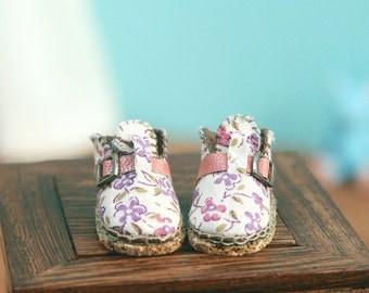 jiajiadoll- Handmade- violet flower shoes fits momoko- blythe -Misaki- Unoa light- Lati yellow