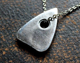Silver Planchette Necklace Mystic Oracle Ouija Planchette Pendant 291