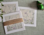 """Set of 4 postcards. """"Vetch and grasses ..."""""""