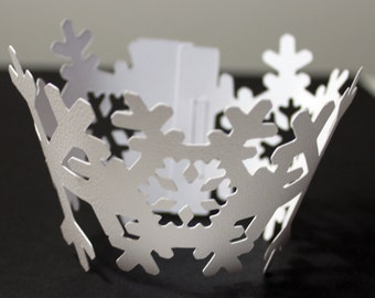 Snowflake Cupcake Wrappers, Set of 12