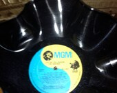 The Osmonds recycled record bowl