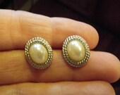 Vintage Richelieu Faux Pearl Earrings