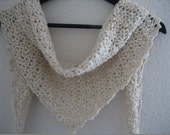 Valentine Day, Hand crocheted, beige,light honey colored,  mini shawl, fashion scarf shawl,new, Turkishteam
