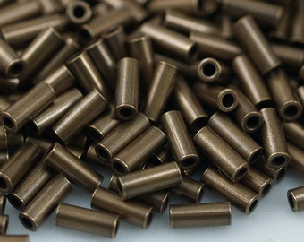 Antique Bronze Spacer Bead, 100 Antique Bronze Tube Spacer Beads (5x2mm)  K191