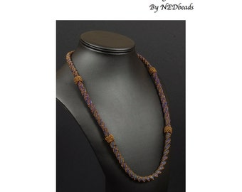 Beadwoven Necklace Tutorial - Triple Twist Necklace