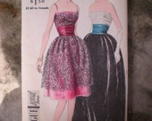 Vintage 1960s Vogue Special Design Evening Dress Gown Pattern 4181