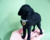 Black Lab Mix Custom Felted Wool Sculpture