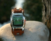 Hand-Crafted Terra Watch-Band with Watch-Face