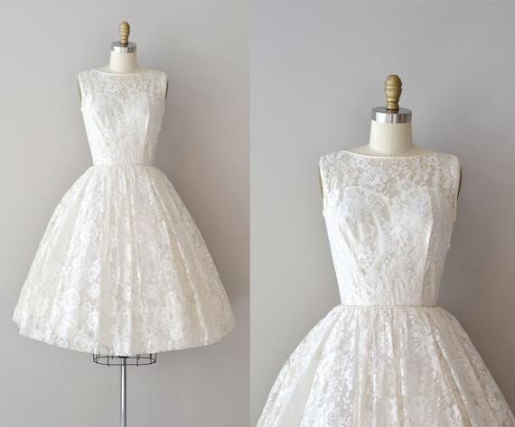 Lace 50s Wedding Dress / 1950s Dress / Be Near Me