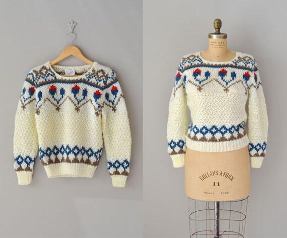 folk sweater / vintage 80s sweater / Tarjanne sweater