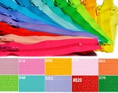Doll & Craft YKK Zippers- Shortest length made by YKK-Ten 2 inch YKK doll Zipper  Assorted Colored Number 3 Nylon Coil Closed Bottom
