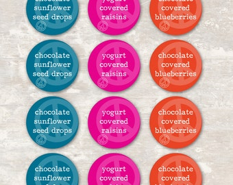 PRINT & SHIP Peace Love and Party Birthday Party Food Labels (set of 12) >> personalized and shipped to you   Paper and Cake