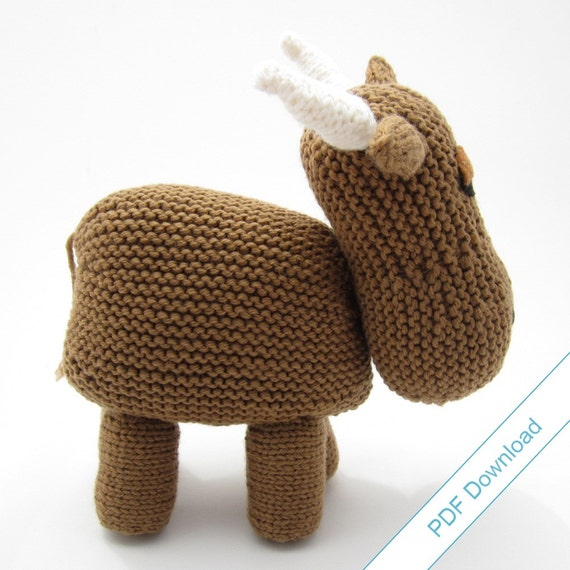 Knitting Pattern Cow Toy : Knitting Pattern PDF Toy Cow. Knit Your Own Herd. from NattyKnits on Etsy Studio