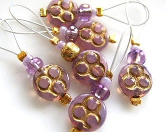 La Violet de l'invention - Six Snag Free Stitch Markers - Fits Up To 5.5 mm (9 US) - Open Edition
