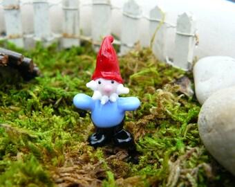 Small Fairy garden accessory, small gnome, fairy garden miniature, fairy garden supply, terrarium supply, tiny garden
