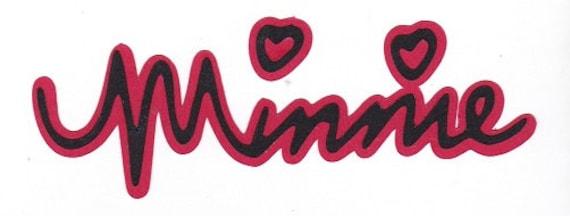 Items Similar To Disney Minnie Mouse Autograph Title