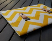 11 MacBook Case / 11 MacBook Air Case /  11 MacBook Cover / MacBook Air Cover / MacBook Sleeve - Chevron Yellow Natural