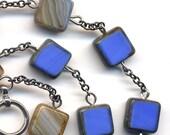 Sky Blue Rare Czech Glass Necklace, Blue Necklace, OOAK Necklace, Winter Color Necklace, Handmade Jewelry by AnnaArt72