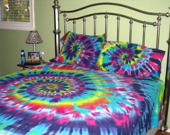 popular items for tie dye bedding