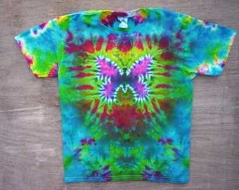 Childrens-Spring Butterfly Tie Dye Size Youth Large