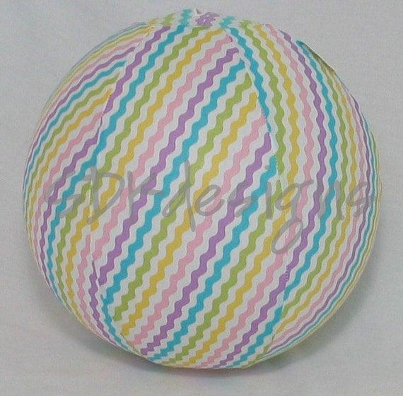 Balloon Ball - Pastel Rainbow Ric Rac Chevron - Great baby shower decor or party favor