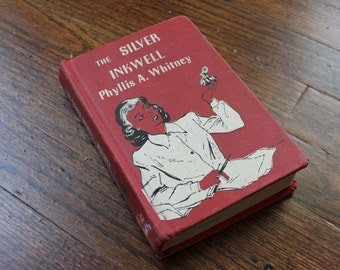 Vintage 1940s Book - RARE - First Edition - The Silver Inkwell - Phyllis A Whitney 1945 Book