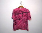 vintage oversized pink BETTY BOOP and Felix the Cat t shirt / L