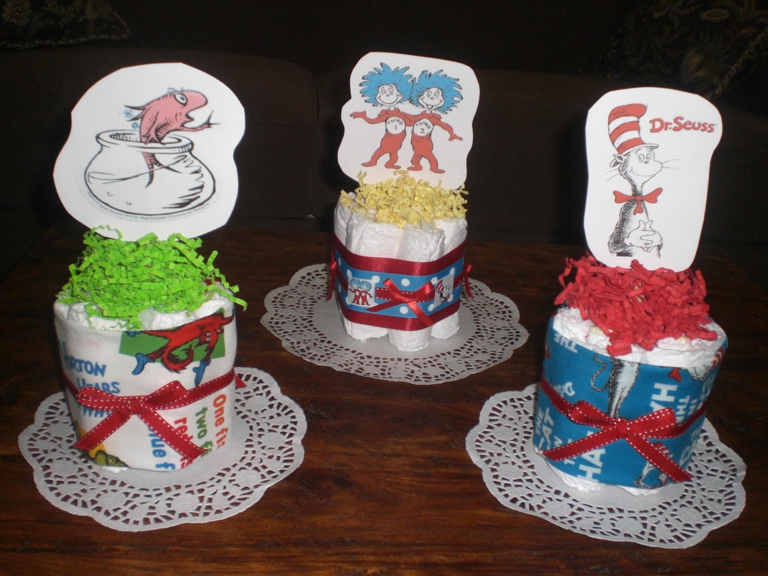 Cat And The Hat Diaper Cakes