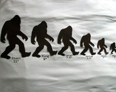 Sasquatch iron on applique. Now you can have a sasquatch family, bigfoot applique... you iron it on yourself.