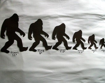 Sasquatch iron on applique for your t-shirt. Bigfoot family iron-on applique... you iron it on your own shirt. Multiple colors available.