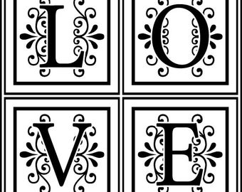 Valentine's Day Wedding Favors Love stamp - Traditional Wooden Handle Rubber Stamp