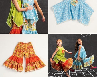 SUMMER CLOTHES PATTERN / Retired / Make Girls Boutique Style Top - Pants / Child Sizes 2 - 5 Or 6 - 8