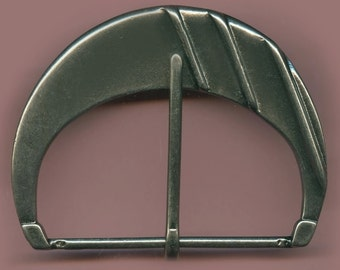 Vintage One Huge Art Deco Hemitie Plated Cast  2x3 Inch Buckle AR6