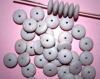 Vintage 24 Pale Lavender Spacer Beads 10X4MM EL5