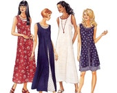 Misses Tank Dress Sewing Pattern - Womens Dress Pattern - McCalls 8227 - Uncut, Factory Folds