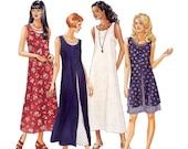 Misses Tank Dress Sewing Pattern - Womens Dress Pattern - McCalls 8227 - Uncut, Factory Folds