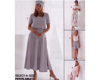 Misses Separates Pattern - Womens Shorts Sewing Pattern - McCalls 8144 - Uncut, FF - Misses Pants Pattern