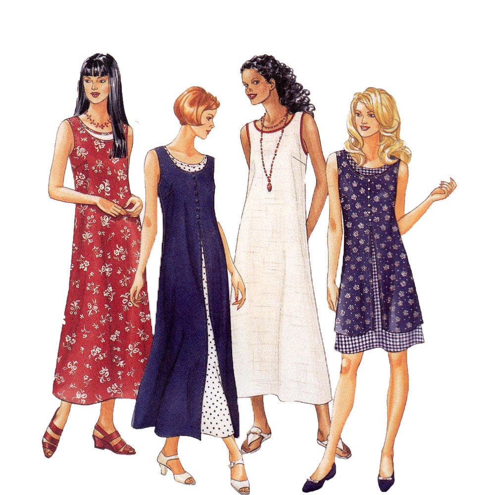 misses tank dress sewing pattern womens dress by zipzapkap