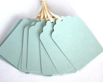 Handmade Paper Tags, Blue Tags, DIY Gift Tags-Escort Cards, Gift Tags, Wedding Favor Tags, DIY Tags