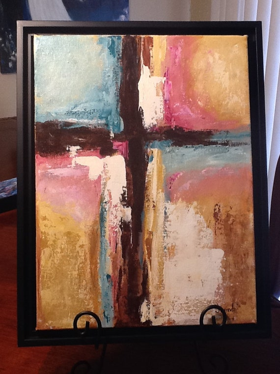 Abstract Cross Paintings Abstract Cross Original Art