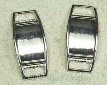 10 Rectangle Shoe Lace Charms, Shoe Charms (07-47-924)