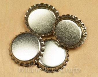 200 Silver Bottle Caps  (03-02-110)