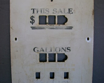 Very Cool Antique Collectible 1930s Louisiana Gas Pump Porcelain Face Plate