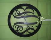 """Personalized 18"""" Custom Wooden Circle Monogram Cut Out - UNPAINTED"""