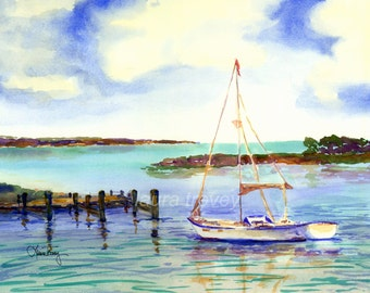 Sailing Giclee on Canvas