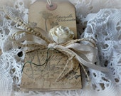 Handmade Garden Gift Tags with a French Flair - All Distressed for that Vintage Look