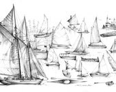 Wooden Boats: an illustration