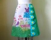 Spring Fling asymmetrical a-line skirt Sz 8